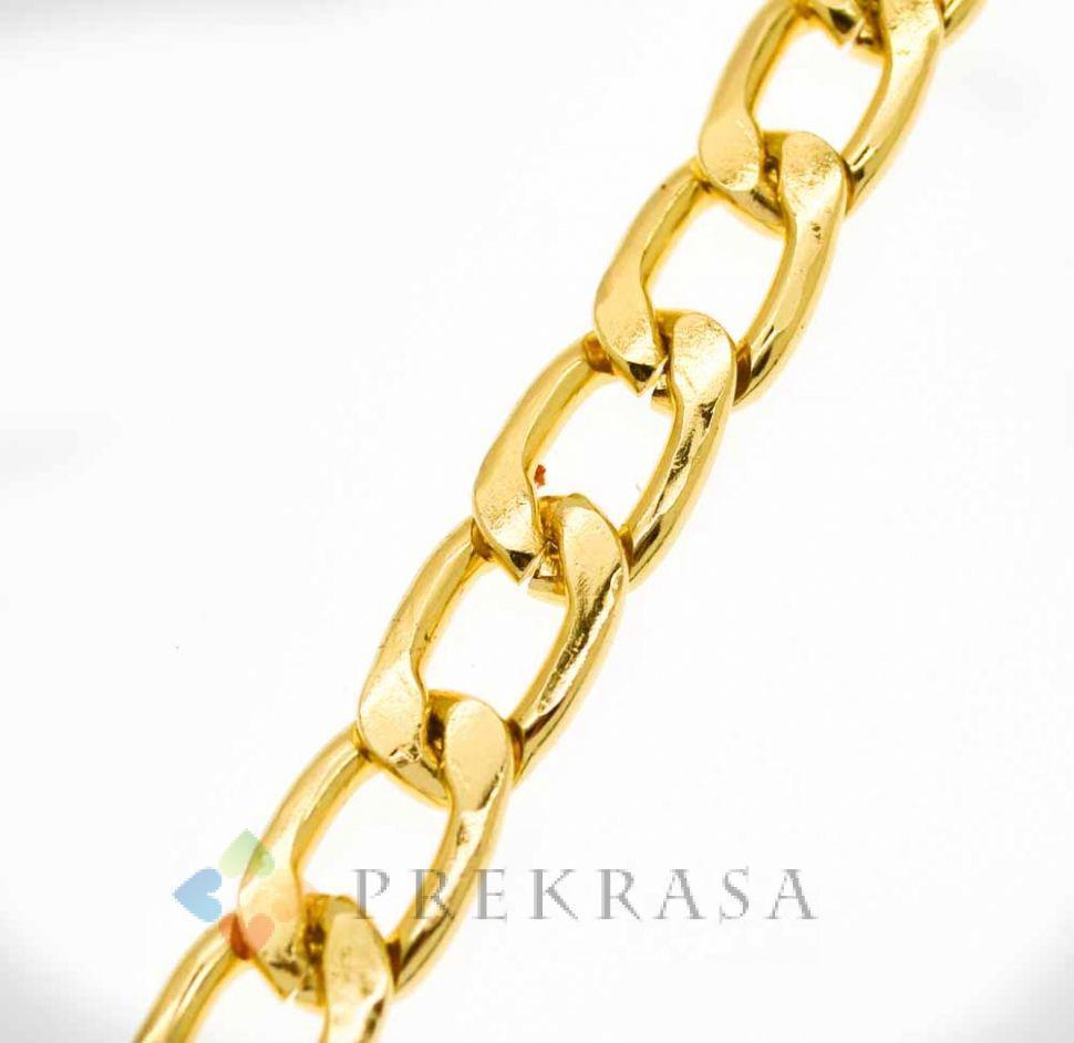 Цепь А296 золото 19х12мм. (1м)