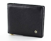 Мужской портмоне с зажимом из натуральной кожи в черном цвете SALFEITE (Салфет) 2142-B