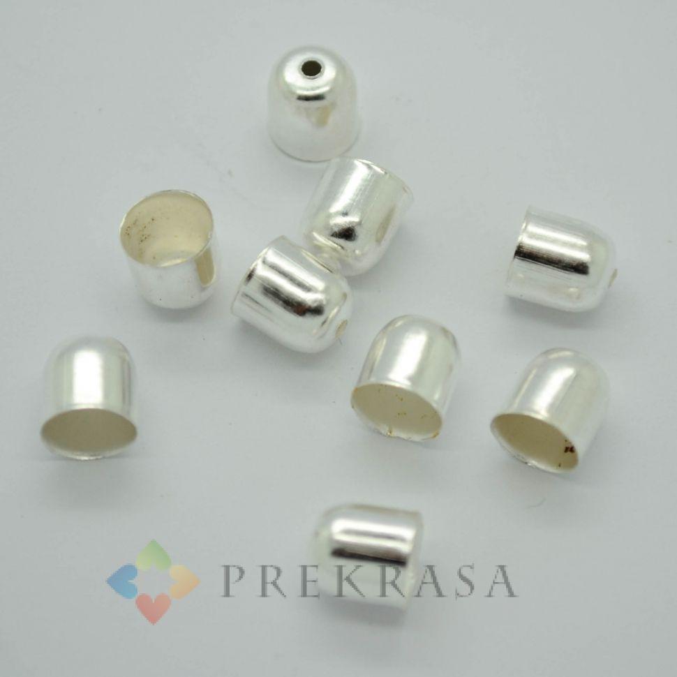 Концевик для изделий 7х8мм, 50шт. (серебро)