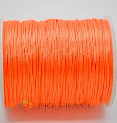 Сутажный шнур круглый 1,5мм, 90м. (оранжевый)