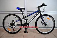 Подростковый велосипед Cross Legion 24 дюйма черно-синий