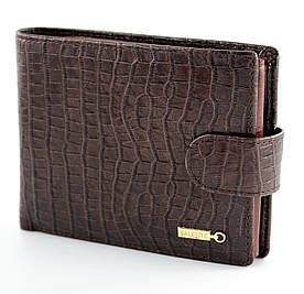 Шкіряний чоловічий портмоне для документів з фактурної шкіри в коричневому кольорі F. Salfeite (Салфет)