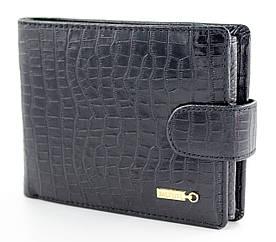 Шкіряний чоловічий портмоне для документів з фактурної шкіри в чорному кольорі F. Salfeite (Салфет) 2233SL-D71