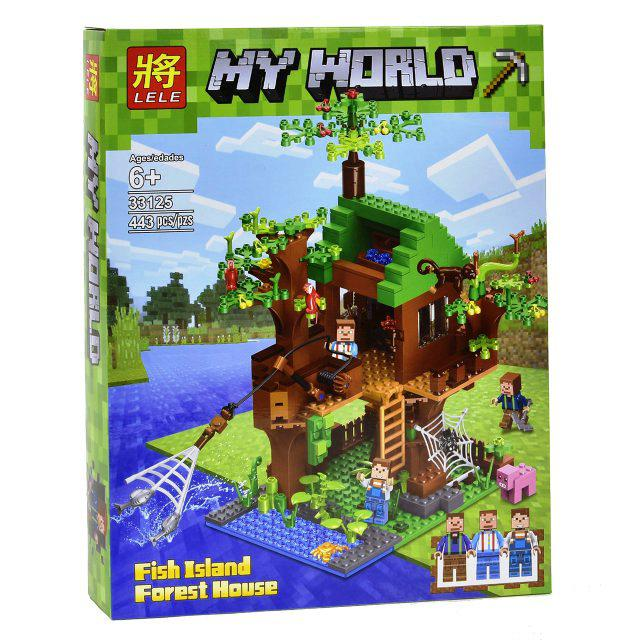 Конструктор Lele 33125 Майнкрафт Minecraft Дом у реки 443 детали
