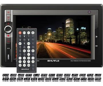 """Мультимедийная автомагнитола Shuttle SDUD-6950 Black/Multicolor 2 din - Интернет-магазин """"Aux Market"""" в Одессе"""