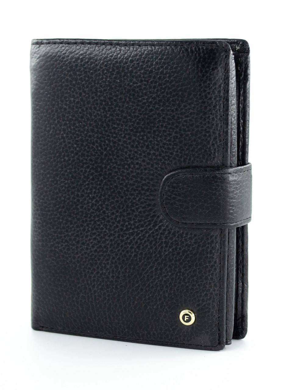 Вместительный кожаный мужской портмоне в черном цвете с отделом для автодокументов Salfeite 2103-B