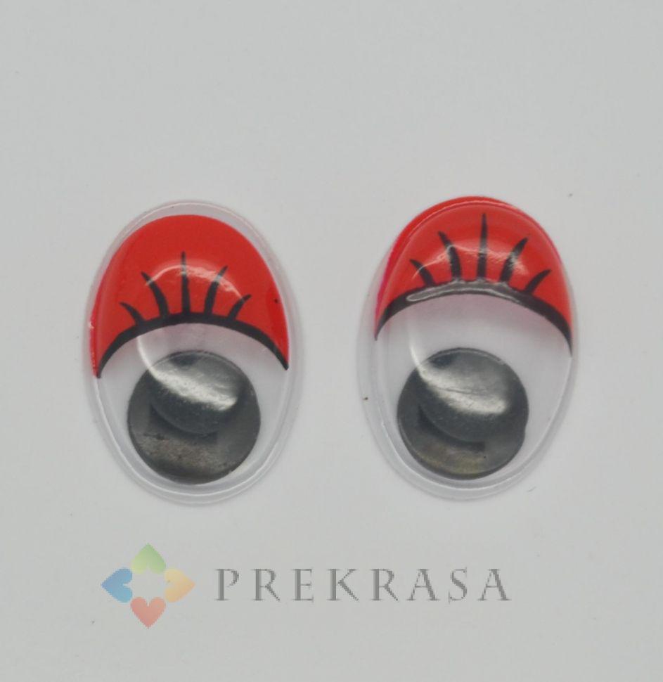 Глазки для игрушек овал (красные). В упаковке 40 пар, размер 18х13мм