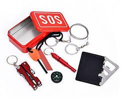 Набор SOS - комплект для выживания 7 в 1. EDC (НАЗ) - носимый аварийный запас.