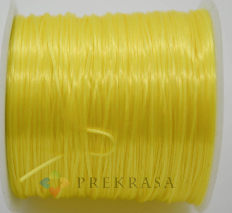 Cлоеная резинка для браслетов, 60м, цвет на выбор. (желтый)