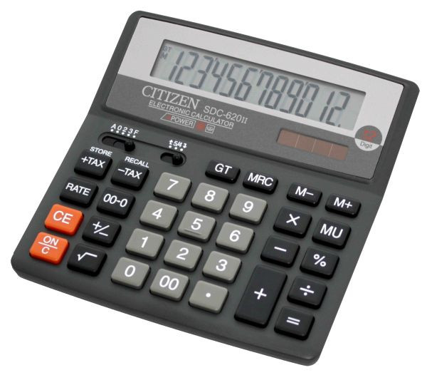 Калькулятор Citizen SDC-620II бухгалтерский 12р.