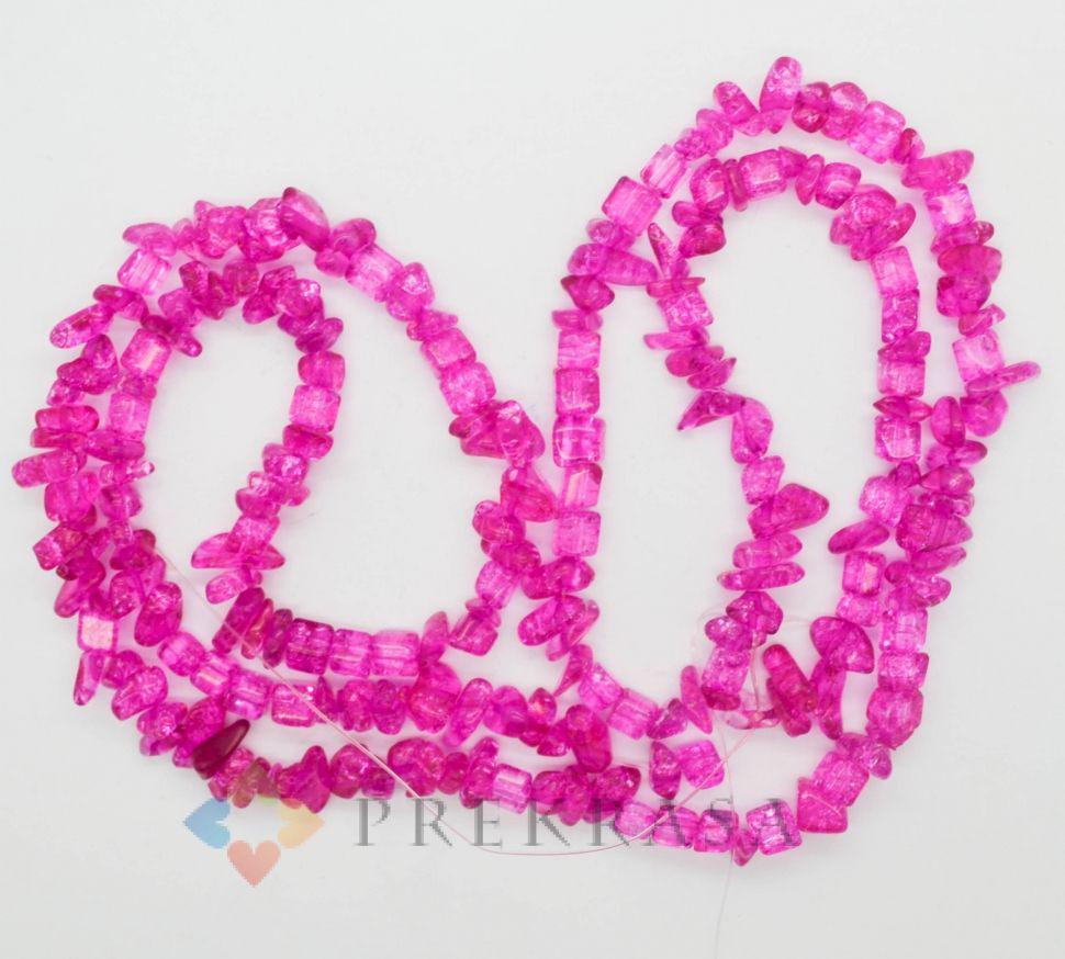 """Сколы """"хрусталь"""" розовый темный, 90см."""