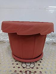 Горшок пластиковый для комнатных растений Тюльпан, диаметр 23 см, 5702