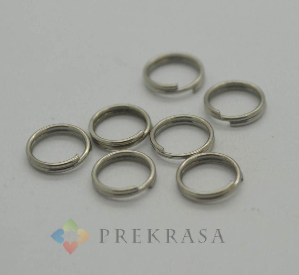 Соединительное кольцо двойное, 7мм, 160шт., цвет на выбор. (серебро)