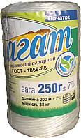 Шпагат поліпропіленовий аграрний 250 г, фото 1