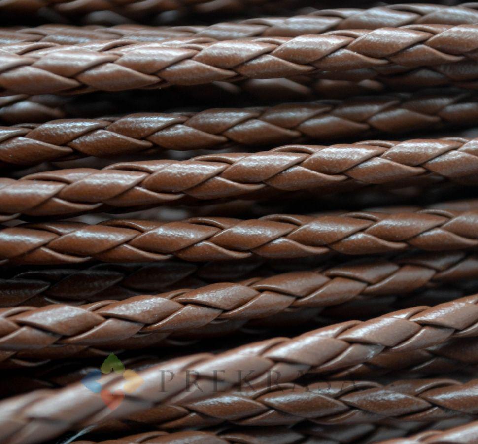 Шнур плетеный, 4мм, 1м, цвет на выбор. (коричневый)
