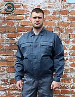 """Куртка робоча """"Бриз"""" сіра, спецодяг демісезонна, фото 1"""