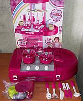Игровая детская кухня 008-58 свет, звук, собирается в чемодан, высота 65,5 см