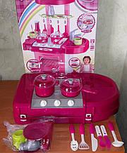 Ігрова дитяча кухня 008-58 світло, звук, збирається у валізу, висота 65,5 см