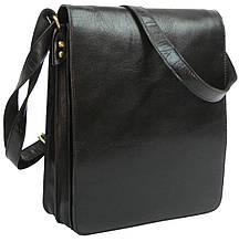 4a96958d6562 Мужская кожаная сумка мессенджер Always Wild TIM-42 Black, 36х33х8 см
