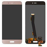 Дисплей (экран) для Xiaomi Mi5s Plus  с сенсором (тачскрином) золотистый