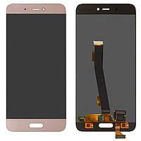 Дисплей (экран) для Xiaomi Mi5s Plus  с сенсором (тачскрином) золотистый, фото 2
