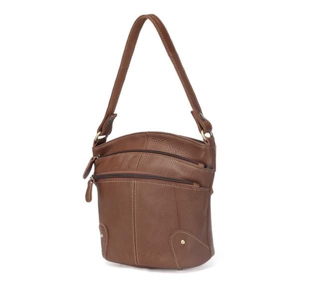 Женская кожаная сумка | светло-коричневая