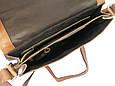 Мужская кожаная сумка планшетка Always Wild TIM-42 Cognac, фото 7