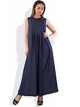 Сукня туніка максі синя розміри від XL ПБ-139