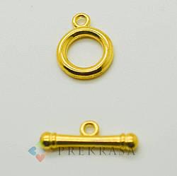 """Тогл застежка """"центурион"""", 12мм.,5шт., цвет на выбор. (золото)"""