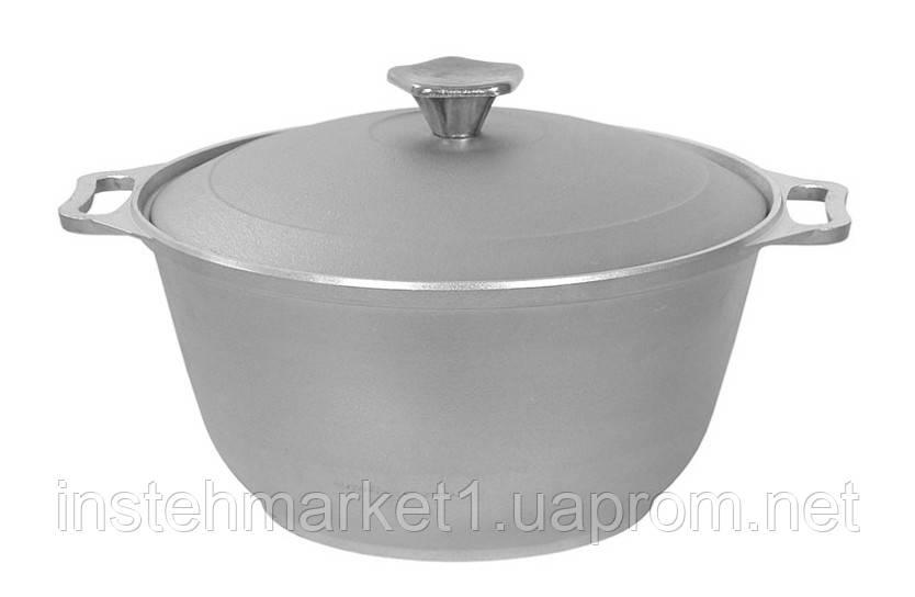 Кастрюля БИОЛ К0251 (2.5 л) алюминиевая с утолщенным дном и крышкой
