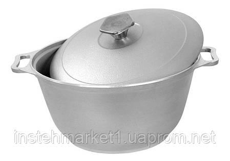 Кастрюля БИОЛ К0451 (4.5 л) алюминиевая с утолщенным дном с крышкой, фото 2