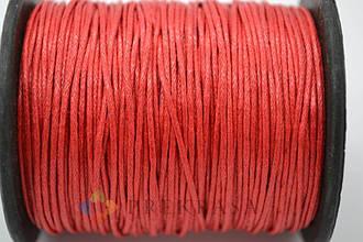 Вощеный шнур 1мм, 90м, цвет на выбор. (красный)