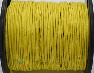 Вощеный шнур 1мм, 90м, цвет на выбор. (желтый)