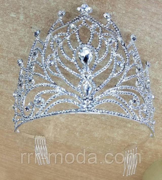 Очень высокие свадебные короны оптом. Свадебная бижутерия оптом.