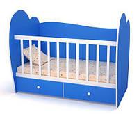 """Детская кроватка """"Лора"""" 120х60 см. Цвет Синий"""