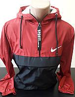 Куртка, ветровка мужская с капюшоном, плащевка