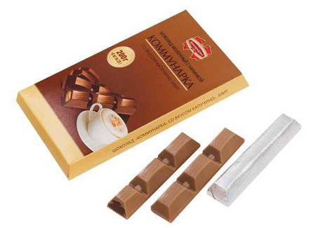 """Шоколад """"Коммунарка"""" молочный с начинкой, фото 2"""