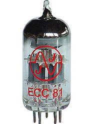 Лампа для гитарного усилителя JJ ELECTRONIC ECC81 (12AT7) Для преампов, педалей