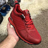 Мужские кроссовки  Philipp Plein  2018 красные, эксклюзив ( реплика)