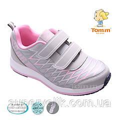 Кроссовки Tom.m для девочки. Кроссовки Tom&Miki, цвет серый+розовый. р-ры 27,28,29,30,31,32
