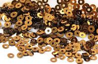 ПИ-903/1 Пайетка индийская (золотисто-коричневый) 3 мм.