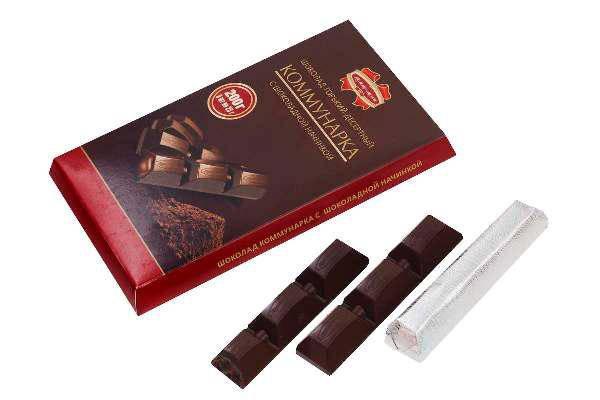 """Шоколад Элит """"Коммунарка"""" с шоколадной начинкой 200г из беларуси, фото 2"""