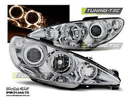 Установка альтернативной оптики на автомобиль Peugeot 206  3