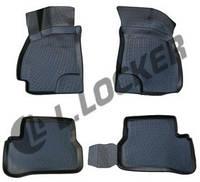 Автомобильные коврики Hyundai Accent (01-) серые 3D, Lada Locker