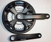 Шатун система, PROWHEEL, алюминиевая mod:CN02 28-38-48зуб (15) , черный (#MD)