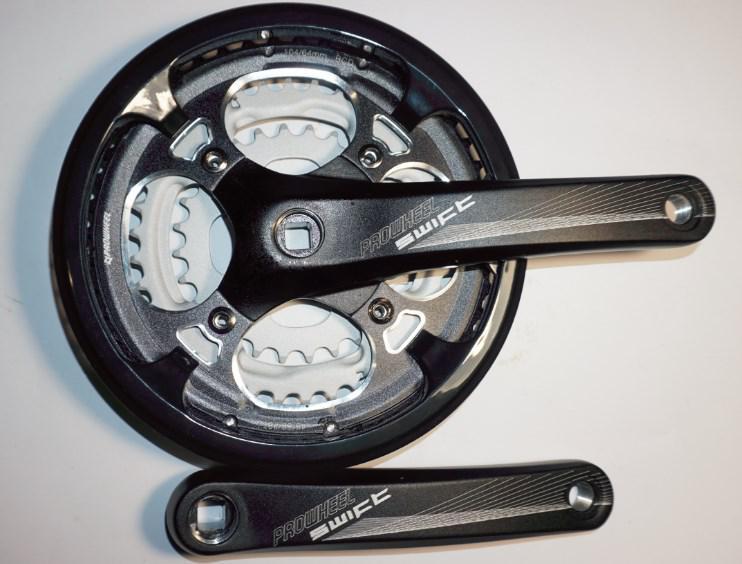 Шатун система, разборная PROWHEEL, алюминиевая mod:251P 28-38-48 зубов (14),черный (#MD)