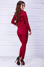 """Джинсовый женский брючный костюм """"Diana"""" с жакетом (5 цветов), фото 2"""