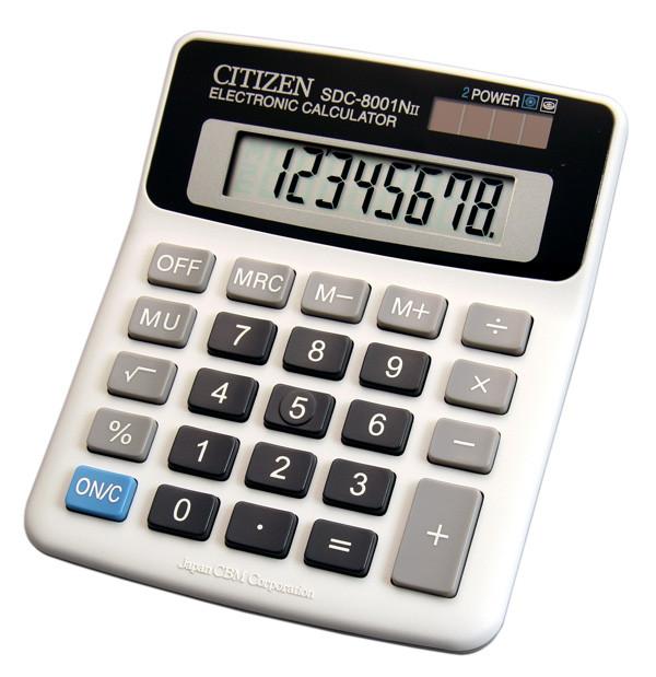 Калькулятор Citizen SDC-8001NII бухгалтерский