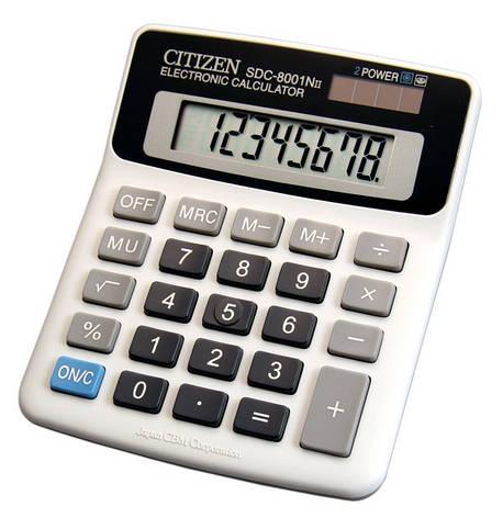 Калькулятор Citizen SDC-8001NII бухгалтерский, фото 2