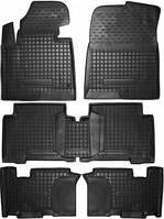 Коврики в салон Hyundai Grand Santa Fe 2014- /7мест/ черный, кт - 4шт